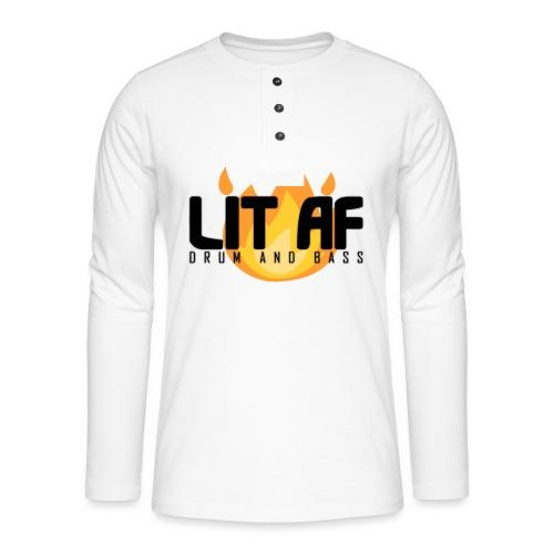 LIT AF Drum and Bass - Henley Langarmshirt