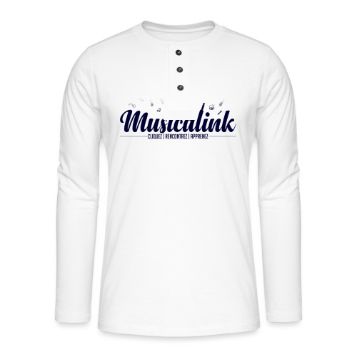 Musicalink blue - T-shirt manches longues Henley