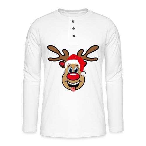 Team Rudolph Rudi Reindeer - Henley Langarmshirt
