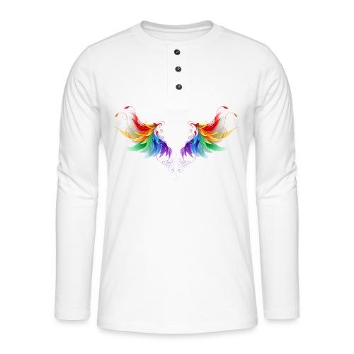Ailes d'Archanges aux belles couleurs vives - T-shirt manches longues Henley