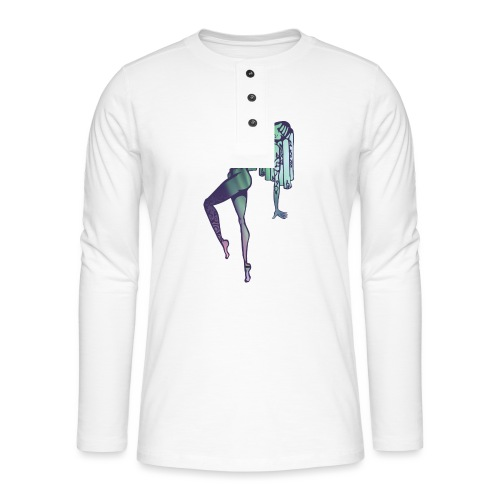 Mama Nature Northern Lights - Henley long-sleeved shirt