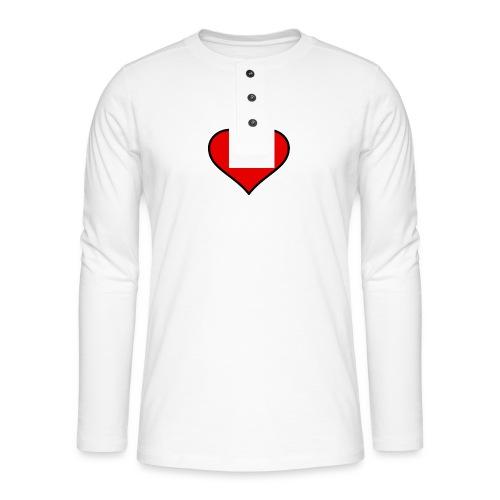 big heart clipart 3 - Långärmad farfarströja