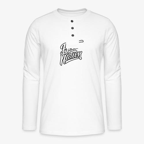 Logo Officiel Beat Nation Blanc - Henley Langarmshirt