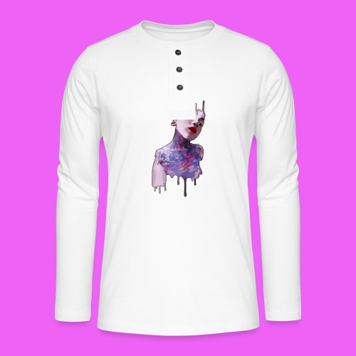 icream girl - Camiseta panadera de manga larga Henley
