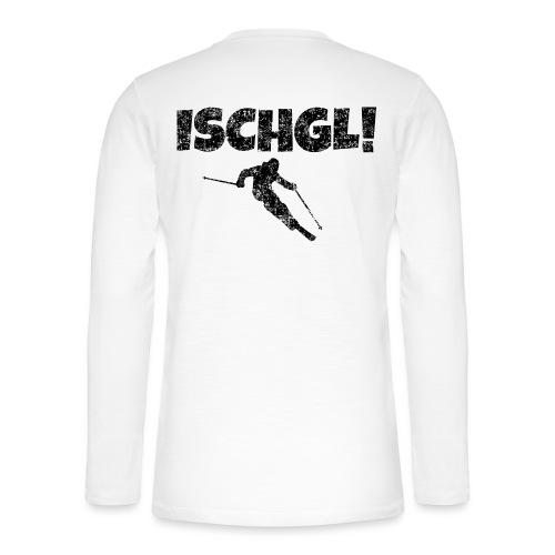Ischgl Skifahrer (Schwarz) Apres-Ski Wintersport - Henley Langarmshirt