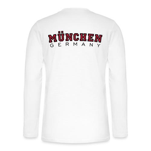 München Germany (Schwarz/Weiß) Deutschland - Henley Langarmshirt