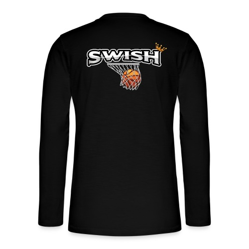 The king of swish - For basketball players - Henley long-sleeved shirt