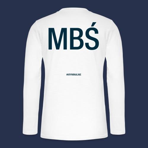 MBŚ duże - motyw ciemny - Koszulka henley z długim rękawem