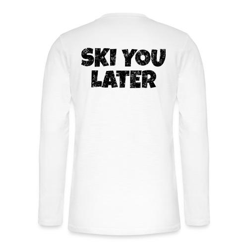 Ski you later (Vintage/Schwarz) Apres Skifahrer - Henley Langarmshirt
