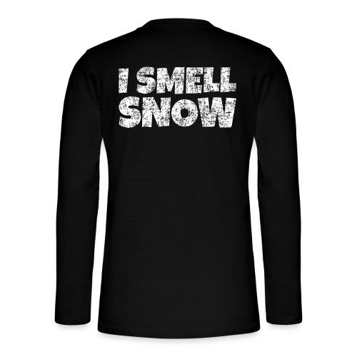 I Smell Snow Schnee, Weihnachten & Wintersport - Henley Langarmshirt