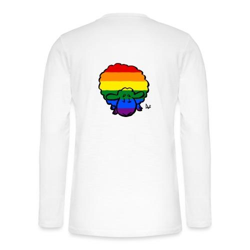 Rainbow Pride Sheep - Henley shirt met lange mouwen