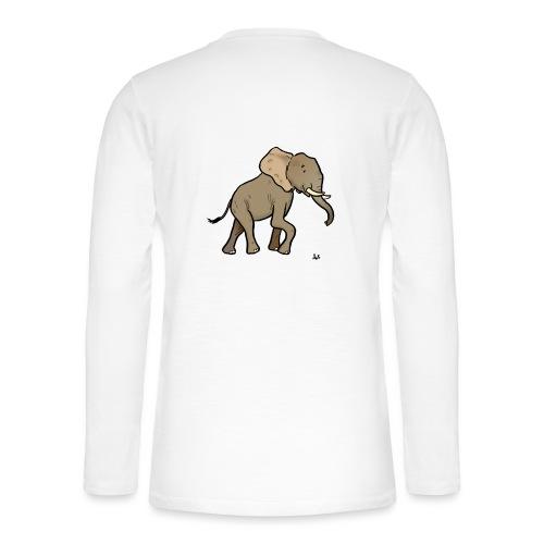 Afrikansk elefant - Henley T-shirt med lange ærmer