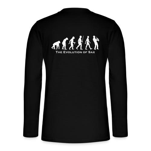 The Evolution Of Sax - Camiseta panadera de manga larga Henley