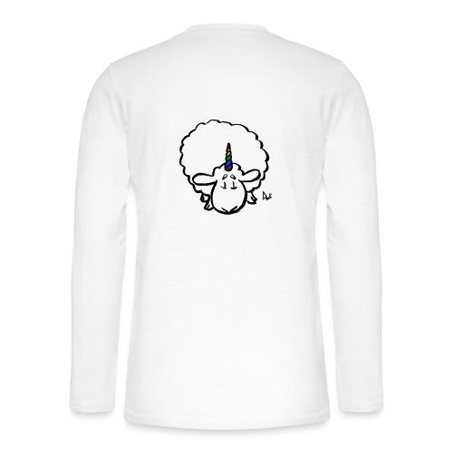 Ewenicorn - det er en regnbue enhjørning får! - Henley T-shirt med lange ærmer