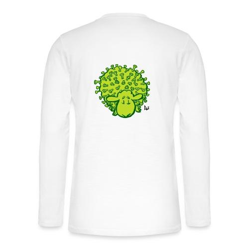 Virus oveja - Camiseta panadera de manga larga Henley