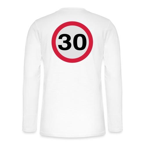 30mph Speed Limit Vector - choose design colours - Henley long-sleeved shirt