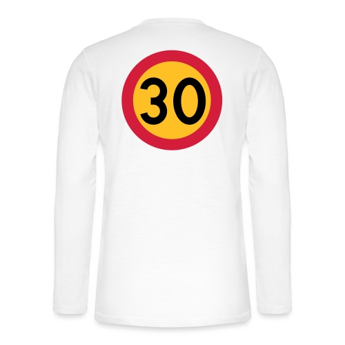 30 kph Road Sign Vector Design - Henley long-sleeved shirt