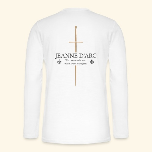 Jeanne d arc dark - Henley Langarmshirt