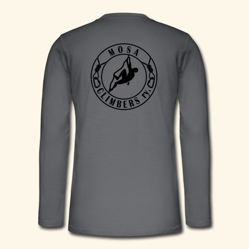 Mosa climbers black - Henley pitkähihainen paita