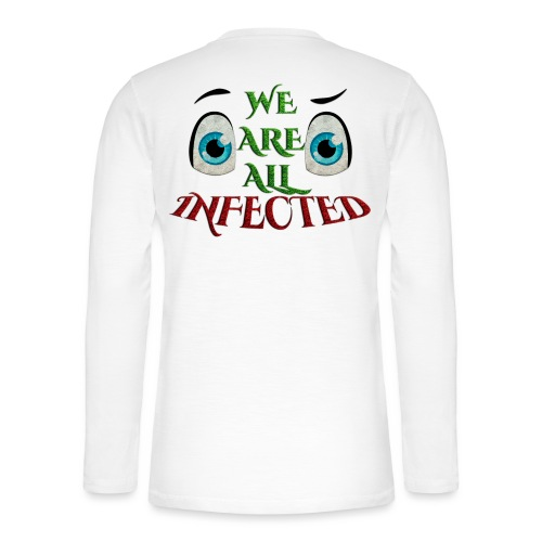We are all infected -by- t-shirt chic et choc - T-shirt manches longues Henley