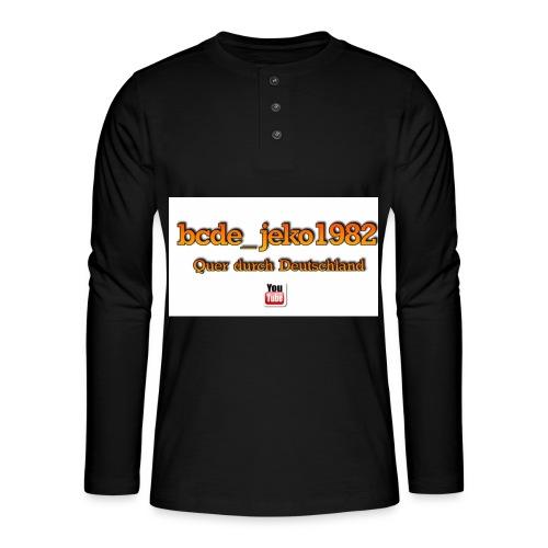 quer durch deutschland - Henley Langarmshirt