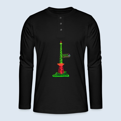 "Berliner Original ""Funkturm"" PopArt Design - Henley Langarmshirt"