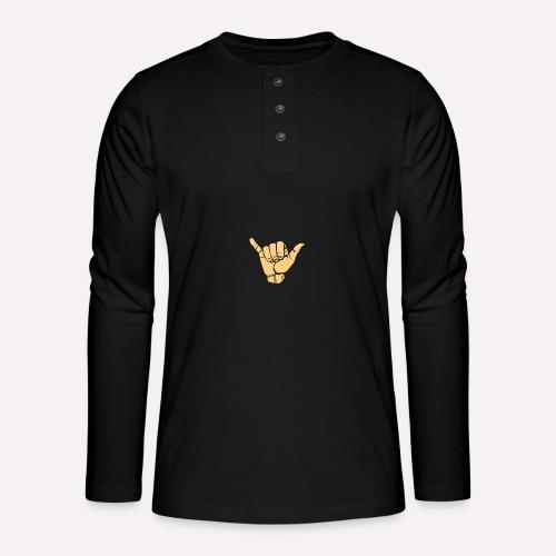 Good Vibes Print Design Hand Sign On Demand - Henley long-sleeved shirt