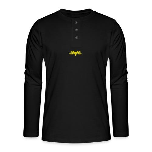 2J_GOLD - Henley T-shirt med lange ærmer