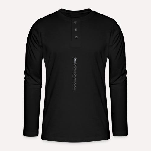Zipper Funny Surprising T-shirt, Hoodie,Cap Print - Henley long-sleeved shirt