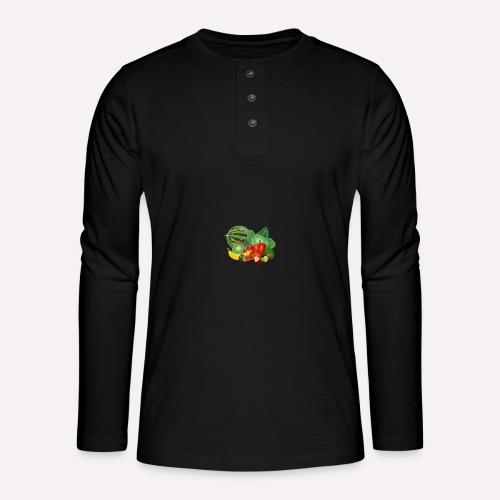Vegetarian or vegetables lover? Print Design - Henley long-sleeved shirt