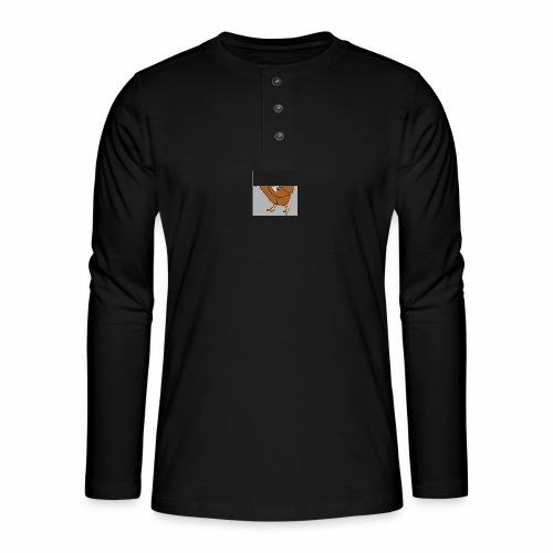 Quad Chicken Logo - Henley long-sleeved shirt