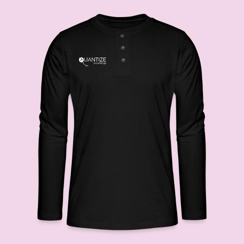 Quantize White Logo - Henley long-sleeved shirt