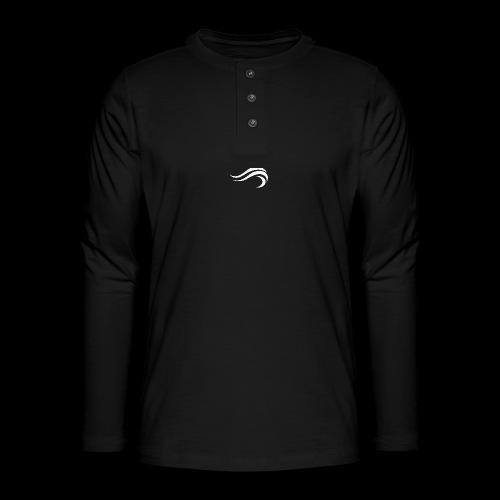 WHITE WAVY. LOGO - T-shirt manches longues Henley