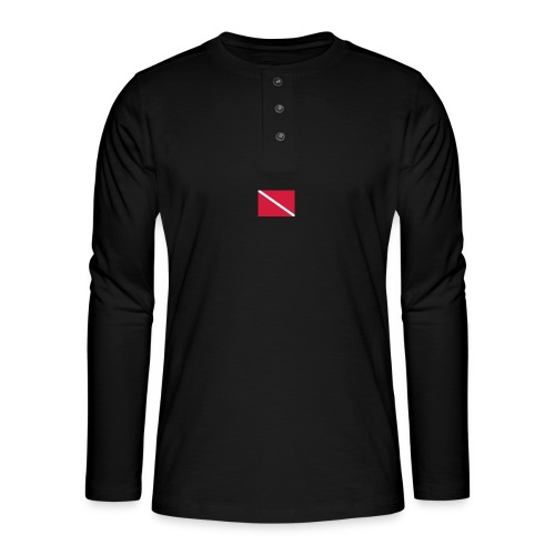 Diver Flag - Henley long-sleeved shirt
