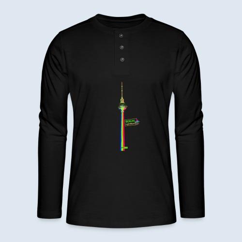 """Berliner Original """"Fernsehturm"""" PopArt Design - Henley Langarmshirt"""
