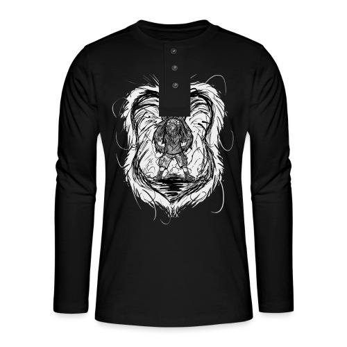 Horned Metalhead - Henley long-sleeved shirt
