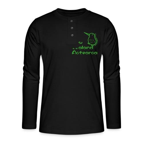 New Zealand Aotearoa - Henley long-sleeved shirt