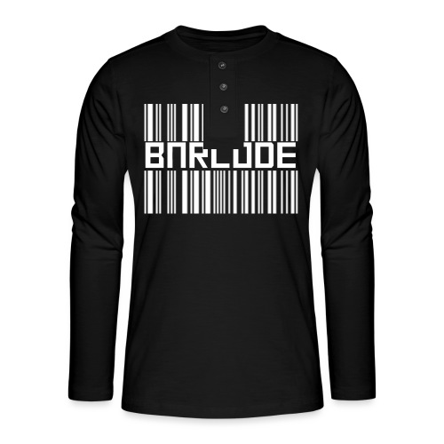 BARCODE BLACK - Henley long-sleeved shirt