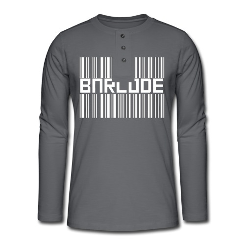BARCODE BLACK - Henley long-sleeved shirt