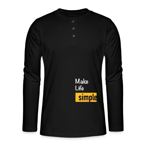Make Life Simple - T-shirt manches longues Henley