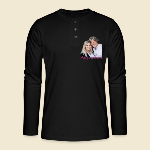 Natasja & Edwin - Henley shirt met lange mouwen