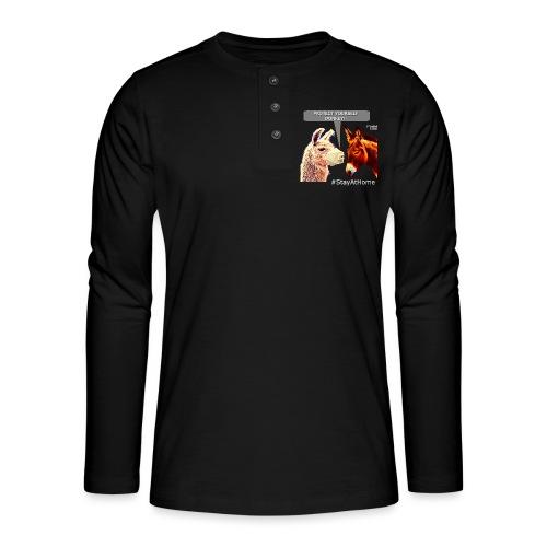 Protect Yourself Donkey - Coronavirus - T-shirt manches longues Henley