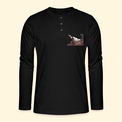Le chant du loup aux fleurs de cerisier - T-shirt manches longues Henley