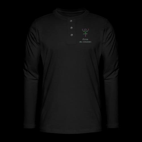 Pluton Logo - Henley Langarmshirt