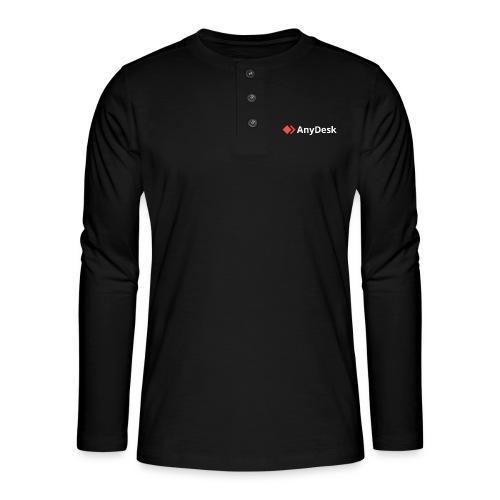 AnyDesk - logo white - Henley Langarmshirt