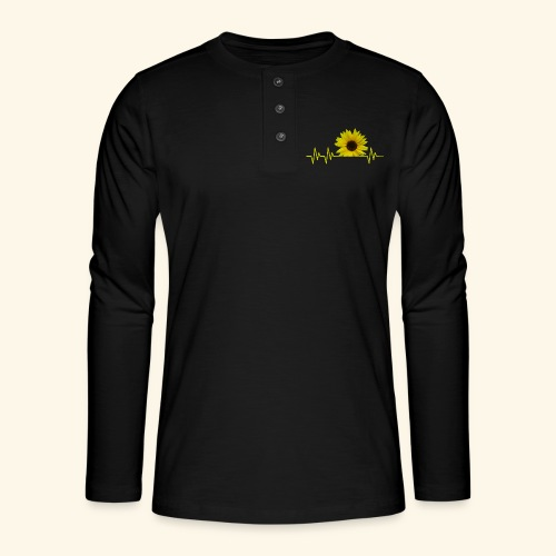 sunflowerbeat - zauberhafte Sonnenblume - Henley Langarmshirt