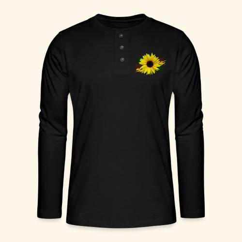 Sonnenblume, Sonnenblumen, Blume, floral, blumig - Henley Langarmshirt