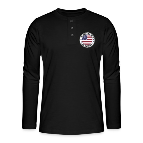 The United States of America - USA flag emblem - Henley long-sleeved shirt