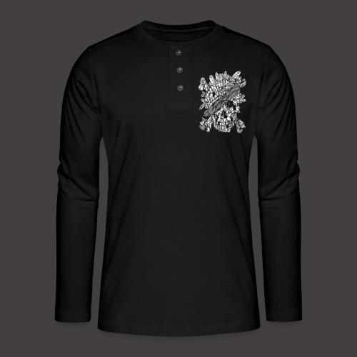 Crane de Pirate de Cristal Noir et Blanc - T-shirt manches longues Henley