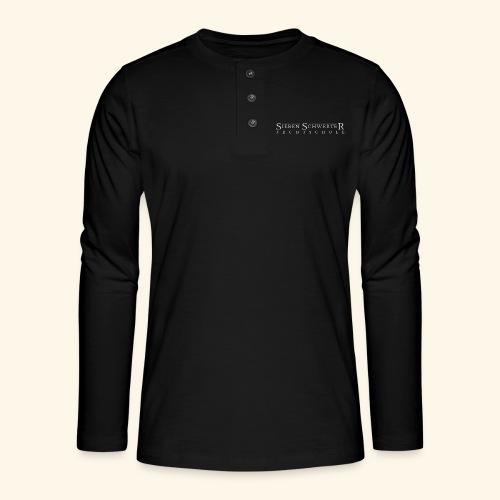 Fechtschule Schriftzug hell - Henley Langarmshirt